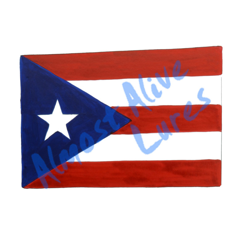 Puerto Rico Flag - Printed Vinyl Decal