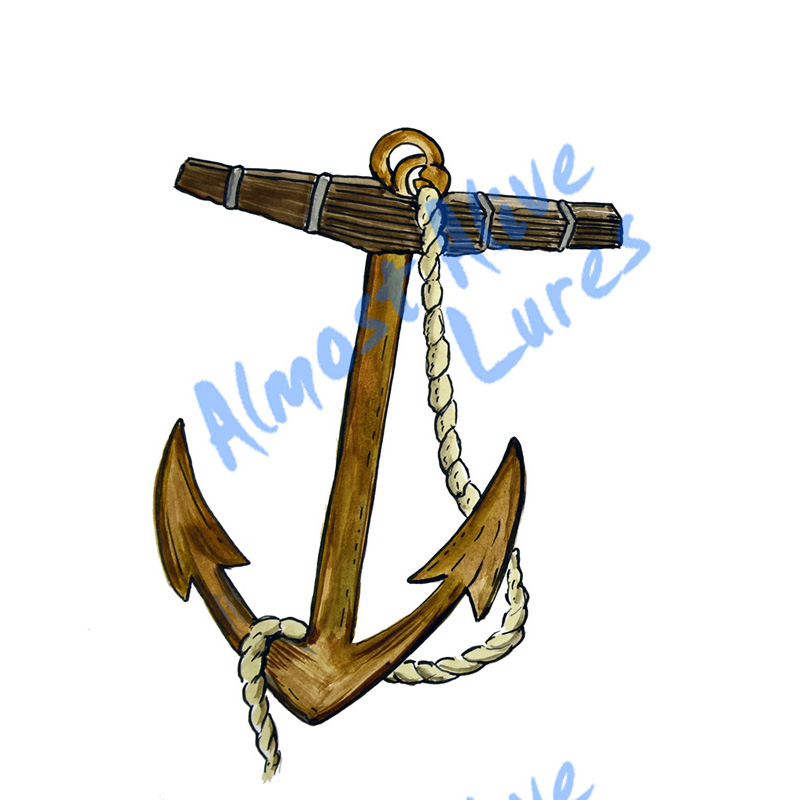 Rustic Anchor - Printed Vinyl Decal