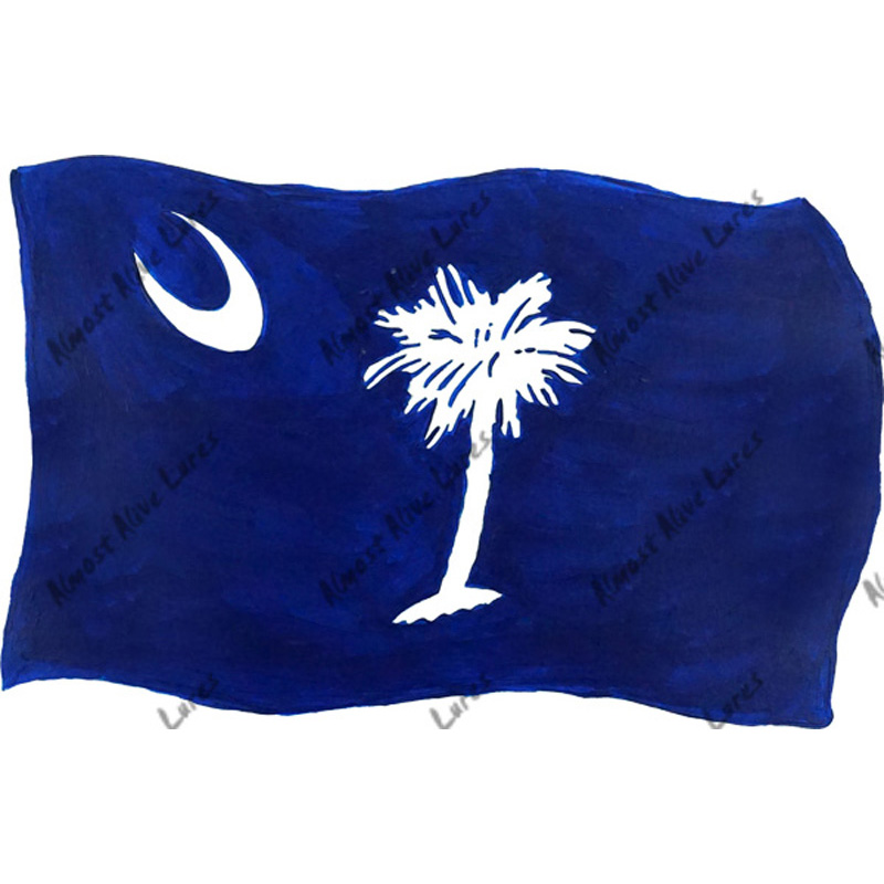 South Carolina Flag - Printed Vinyl Decal