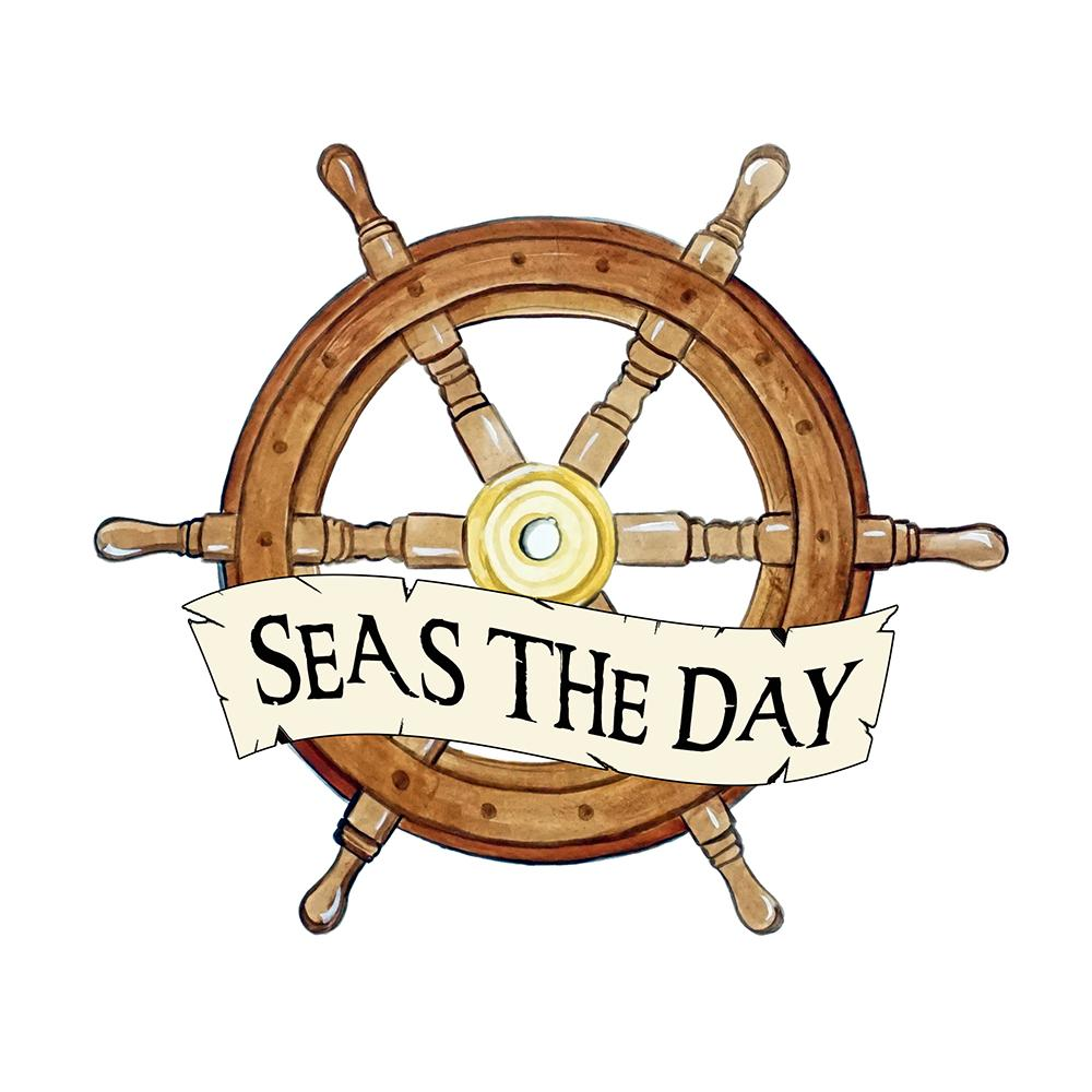 """Seas The Day"" - Ship Wheel"