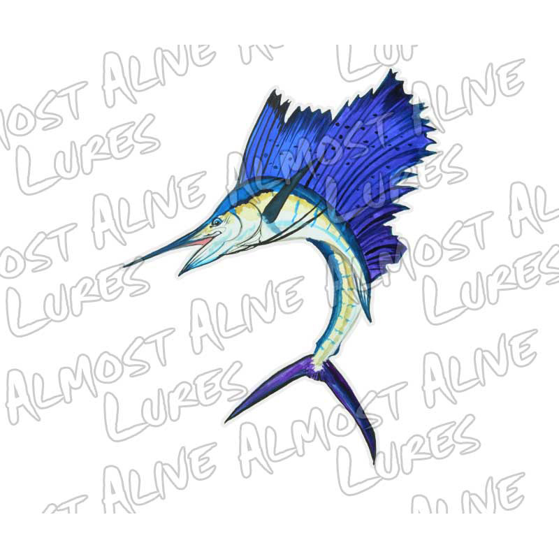 SAILFISH--Jumbo Decal