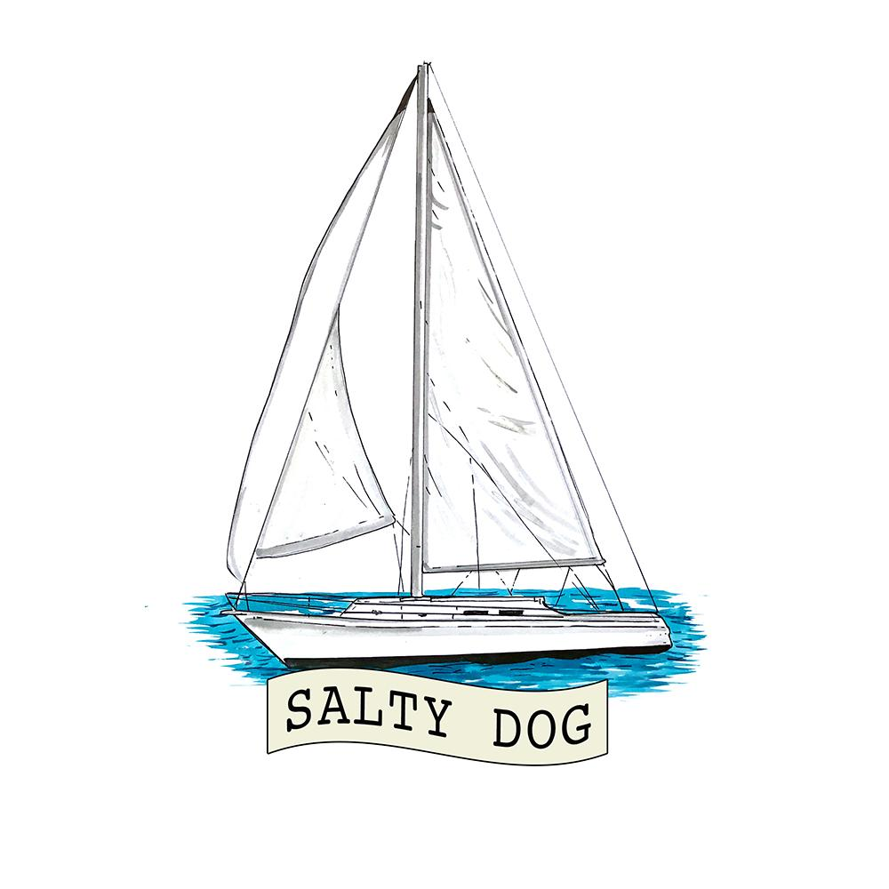 """Salty Dog"" - Sailboat"