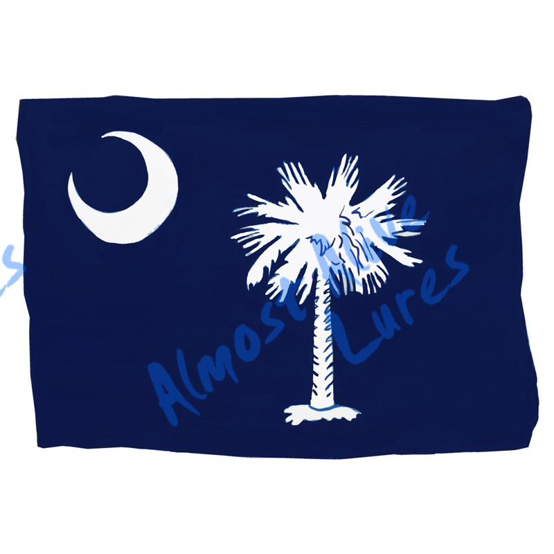 South Carolina State Flag - Printed Vinyl Decal