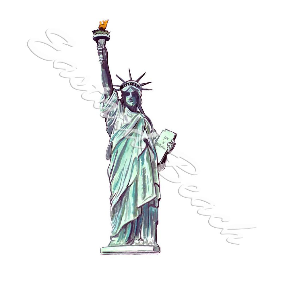 Misc Decal Statue Of Liberty - Printed Vinyl Decal