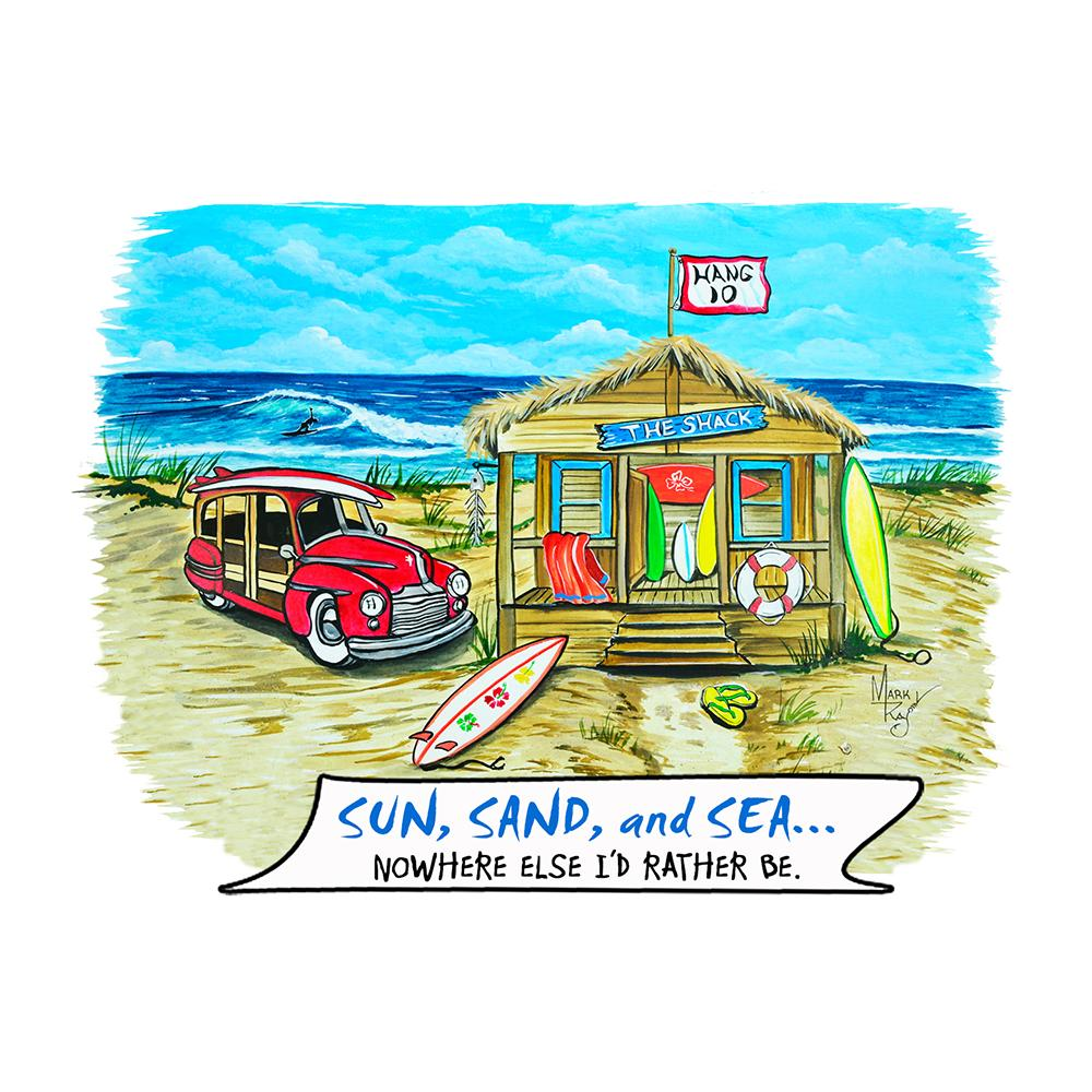 """Sun Sand Sea"" - Beach Shack"