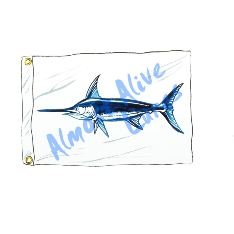 Swordfish Release Flag - Printed Vinyl Decal