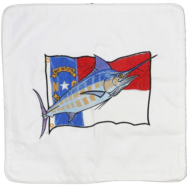 MARLIN NORTH CAROLINA STATE FLAG INDOOR OUTDOOR CUSHION WHITE