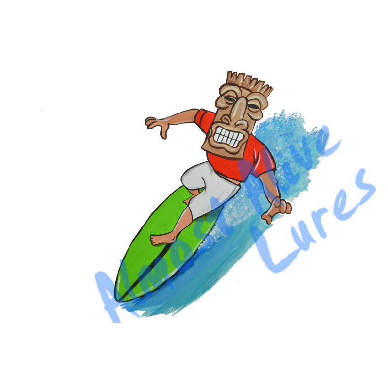 Tiki Surfer - Printed Vinyl Decal