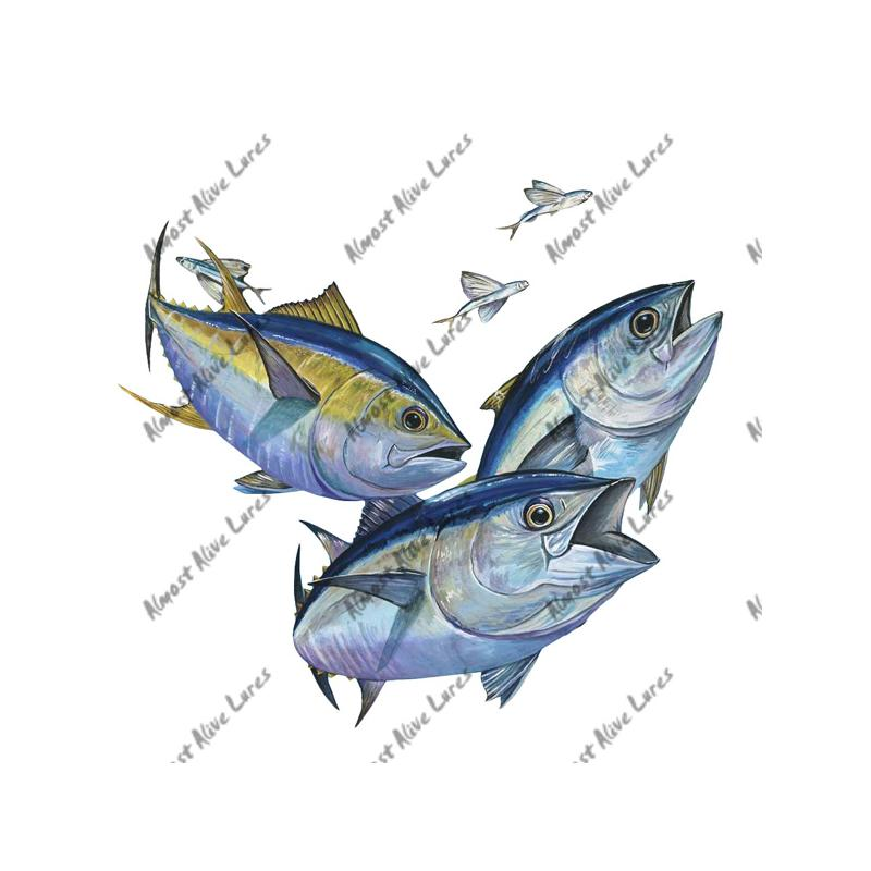 Bluefin & Yellowfin Tuna - Printed Vinyl Decal