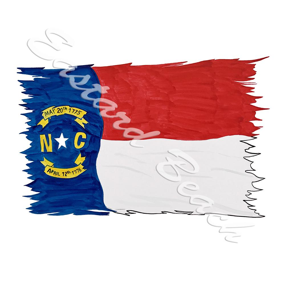 NC Flag Tattered