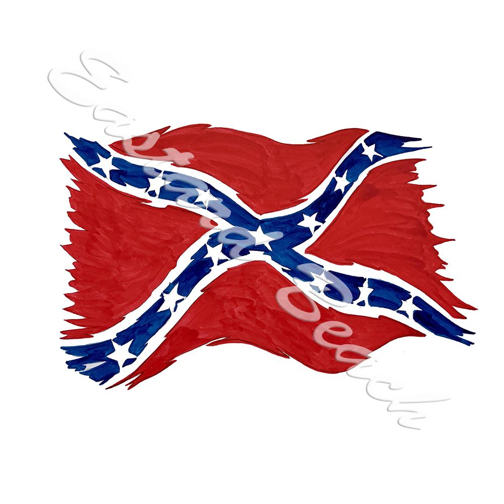 Confederate Flag Tattered