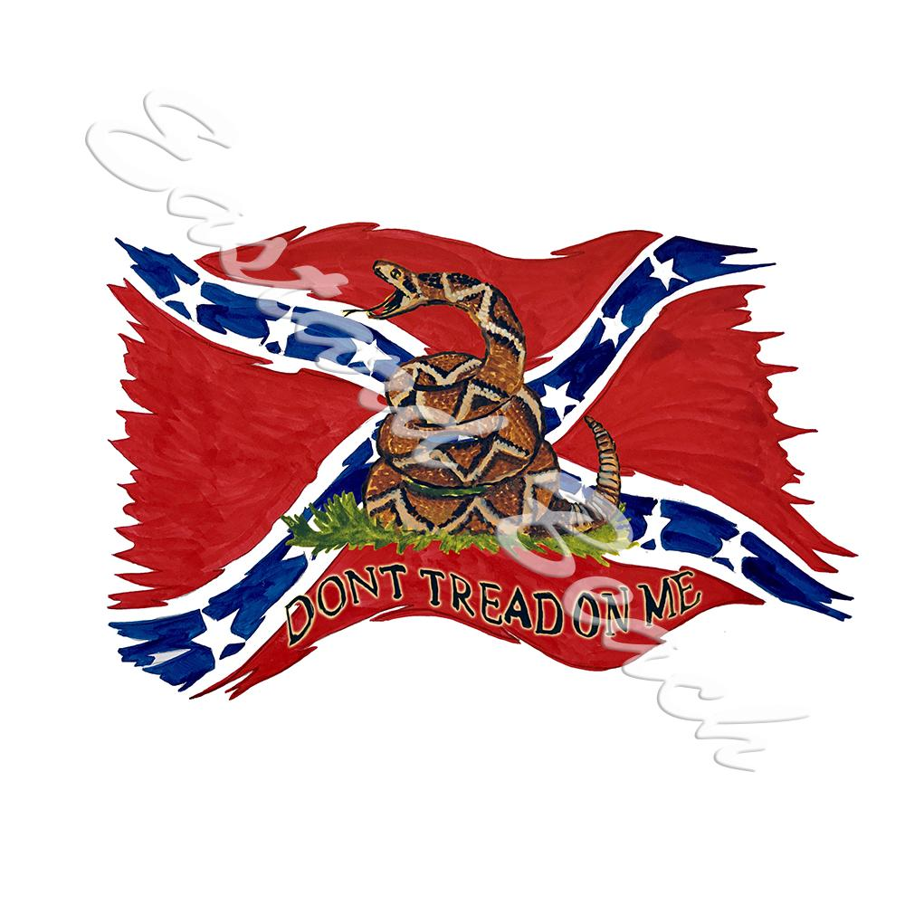 Confederate Flag - Don\'t Tread On Me