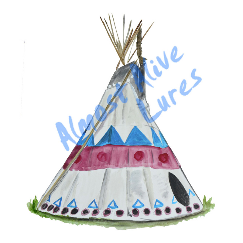 Tee Pee - Printed Vinyl Decal
