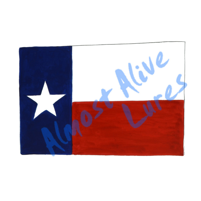 Texas State Flag - Printed Vinyl Decal