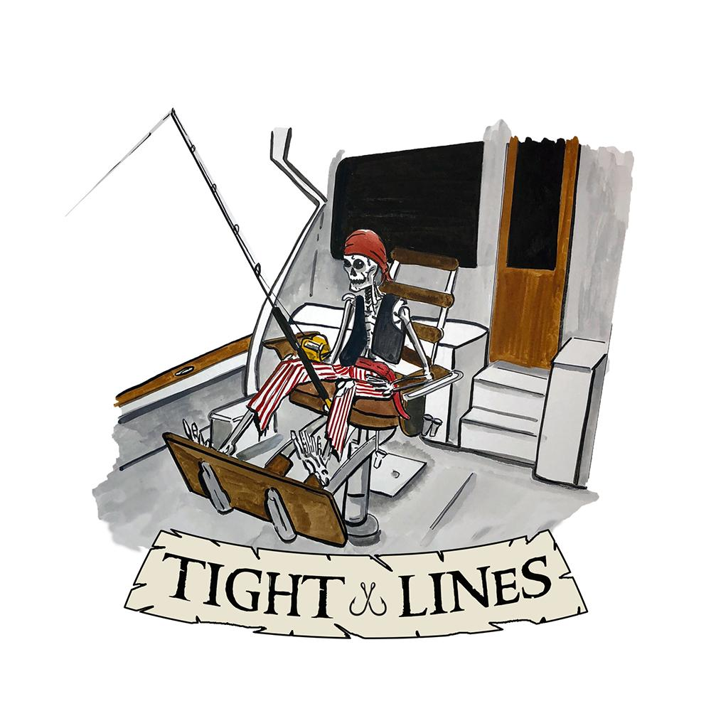 """Tight Lines"" - Pirate Angler"