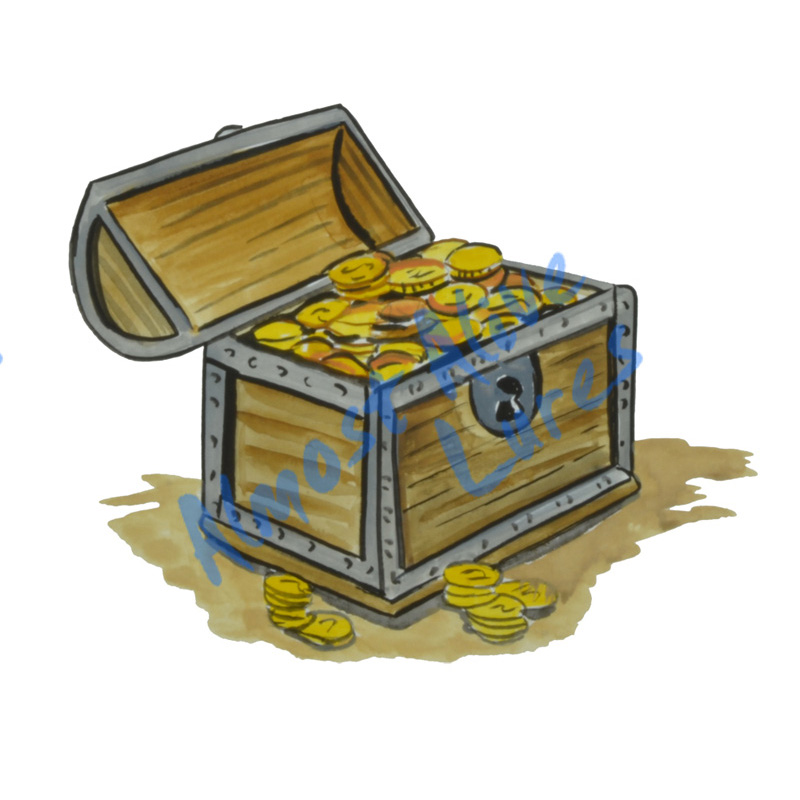 Treasure Chest - Printed Vinyl Decal