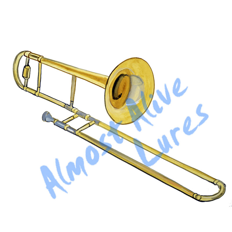 Trombone - Printed Vinyl Decal