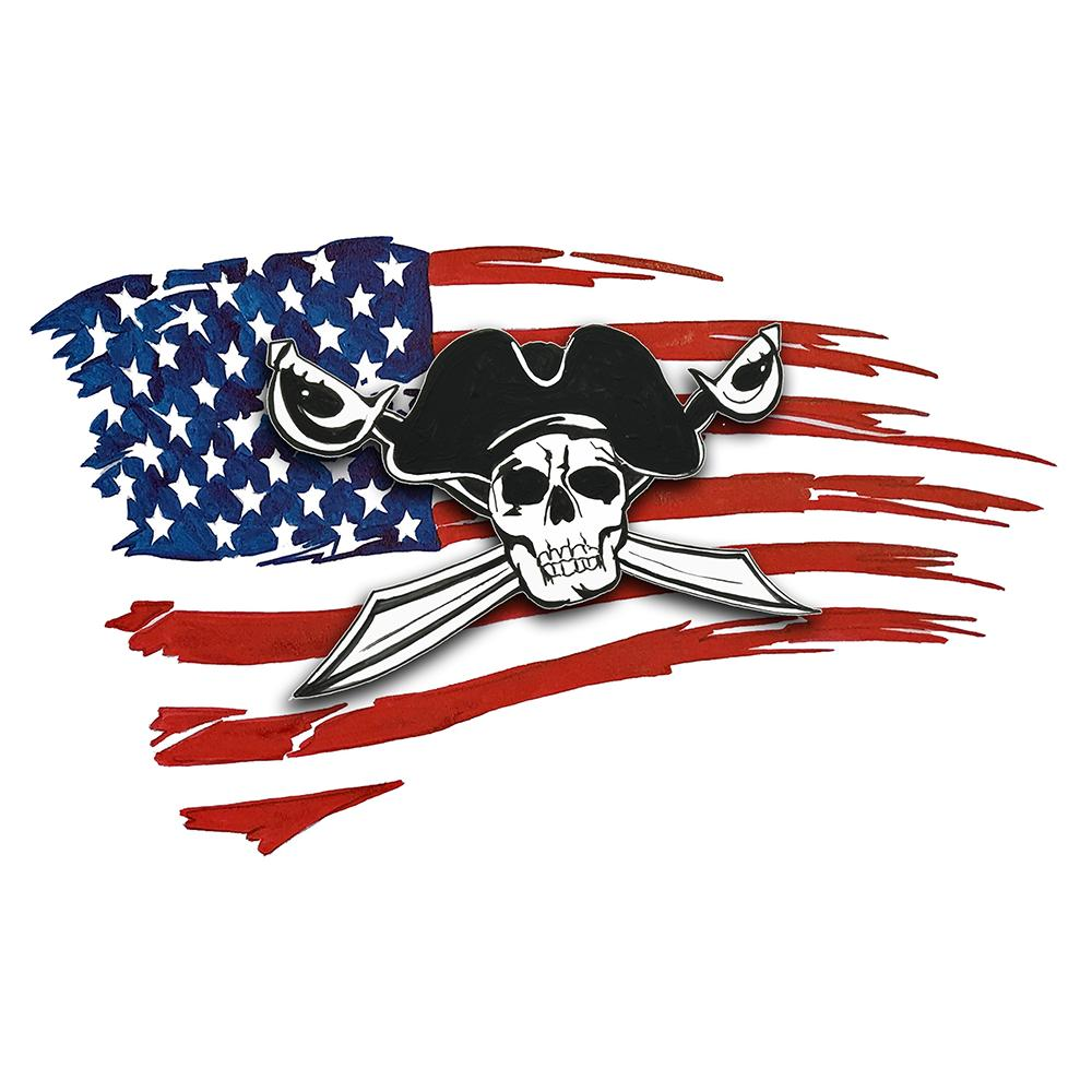 USA Flag - Pirate w/ Cross Swords