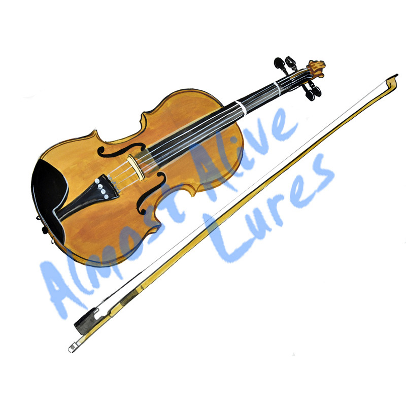 Violin - Printed Vinyl Decal