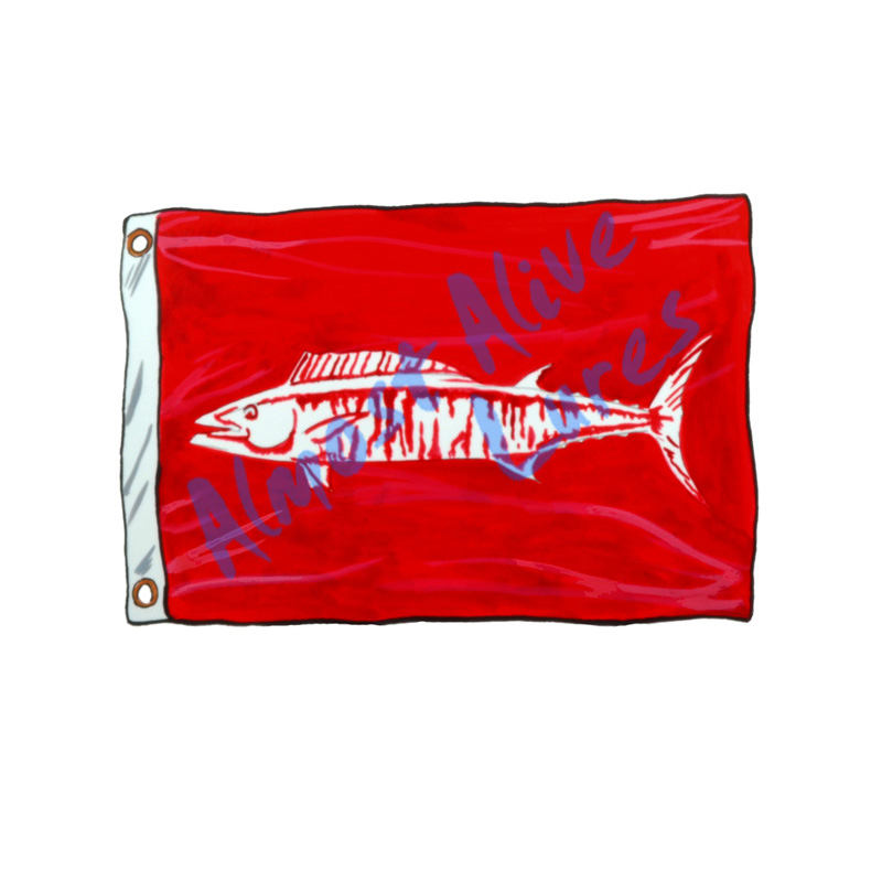 Wahoo Release Flag - Printed Vinyl Decal