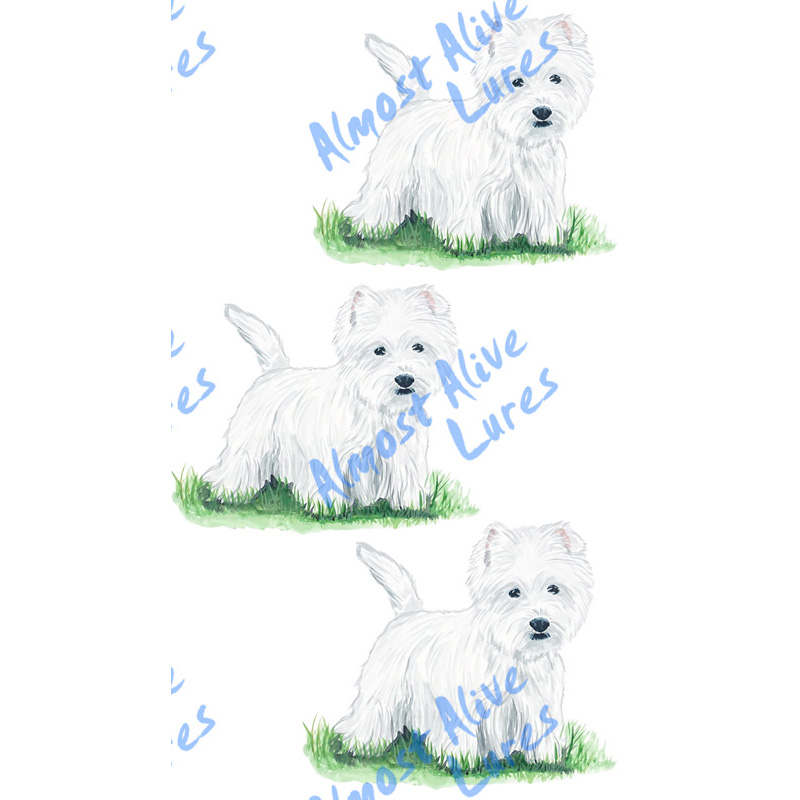 West Highland Terrier - Printed Vinyl Decal