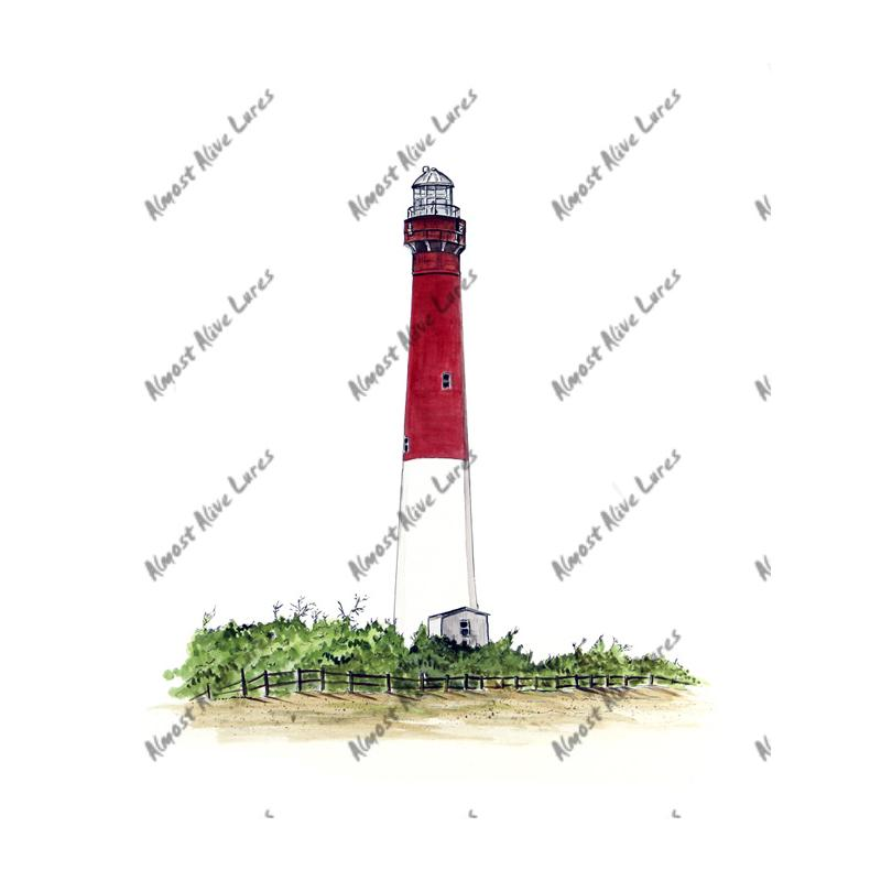 Barnegat Lighthouse - Printed Vinyl Decal