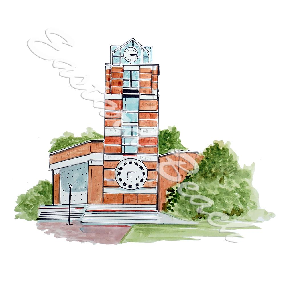 ECU College Clock Tower