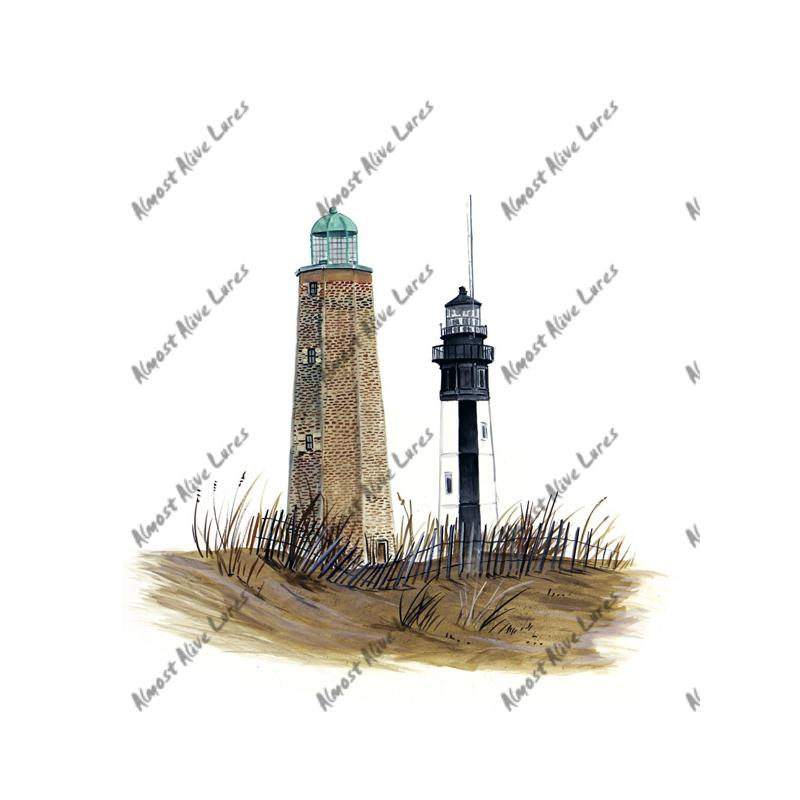 Cape Henry Lighthouse - Printed Vinyl Decal