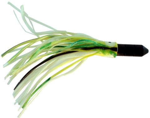 Black Bullet Trolling Lure, 7 Inch With Green, Yel