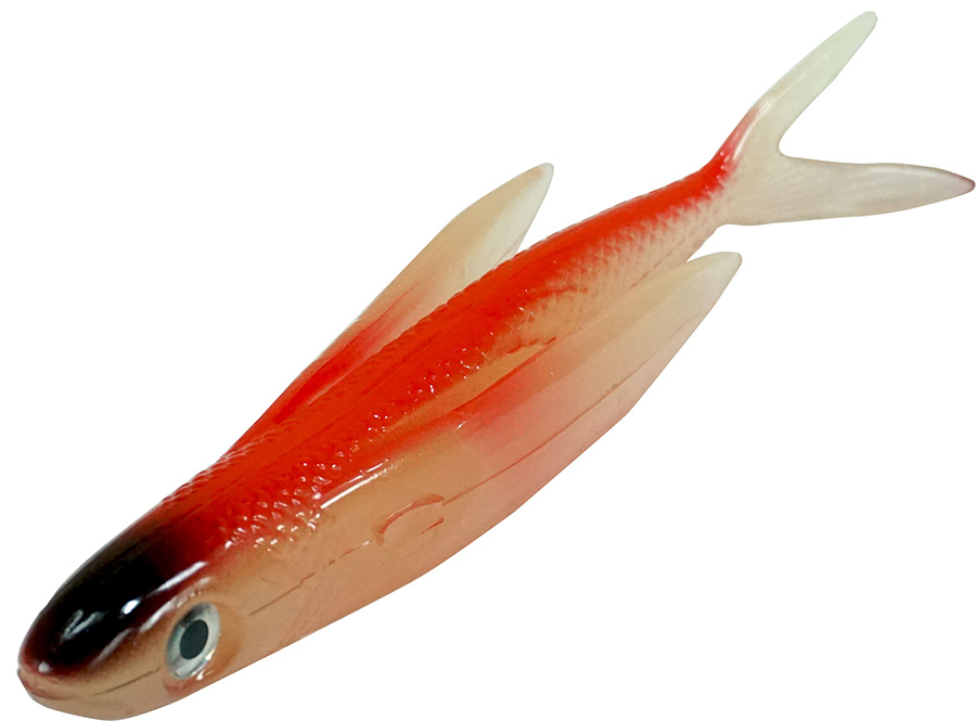 "Almost Alive Lures 6"" Soft Plastic Flying Fish with Swept"