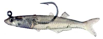 Glass Minnow With Hook, 2.75 Inch, 6 Pack