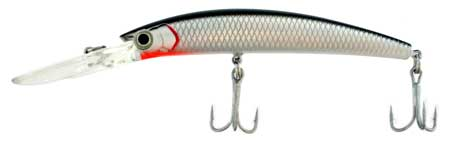 Deep Runner Hard Bait, Black And Silver