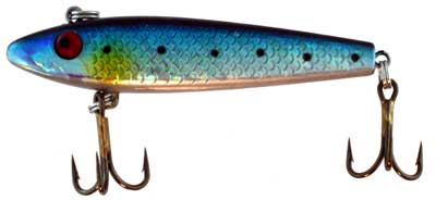 Top Water Bait, Blue Body With Spots, Yellow Gil