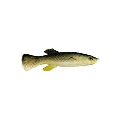 "Almost Alive 6 Pack 2.75"" Soft Minnow Killifish Lure Natural"