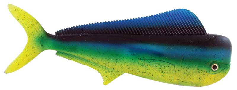 "Almost Alive Lures 12"" Mahi Dolphinfish Bait Blue Green Yellow"