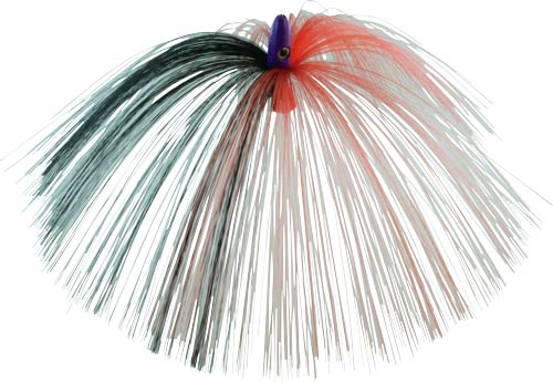 Witch Lure, Purple Bullet Head, 23g, With 7 Inch Red, Black Hair