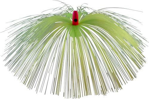 Witch Lure, Hot Pink Bullet Head, 23g, With 7 Inch Chartreuse Ha