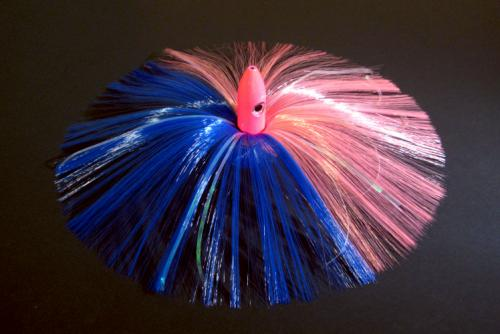 270g Hot Pink Bullet Head With Blue/pink Hair With Mylar Flash