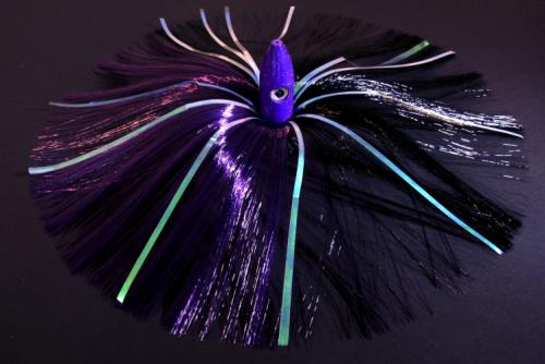 350g Purple Bullet Head With Purple/black Hair With Mylar Flash