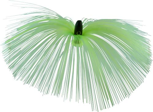 Witch Lure, Black Bullet Head, 60g, With 7 Inch Chartreuse Hair