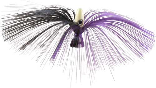 Witch Lure, Glow Bullet Head, 95g, With 7 Inch Purple, Black Hai