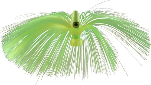 Witch Lure, Glow Bullet Head, 95g, With 7 Inch Chartreuse Hair
