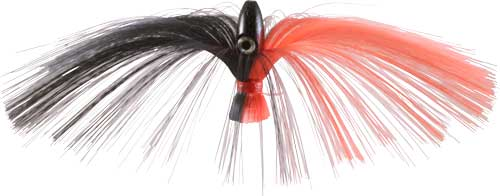 Witch Lure, Black Bullet Head, 95g, With 7 Inch Red, Black Hair
