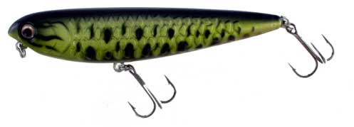 Hard Bait Top Water Green Black