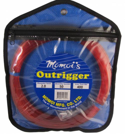 Momoi 11702 Outrigger Mono Kit 400# Red, 50yards W/silverlock Sl