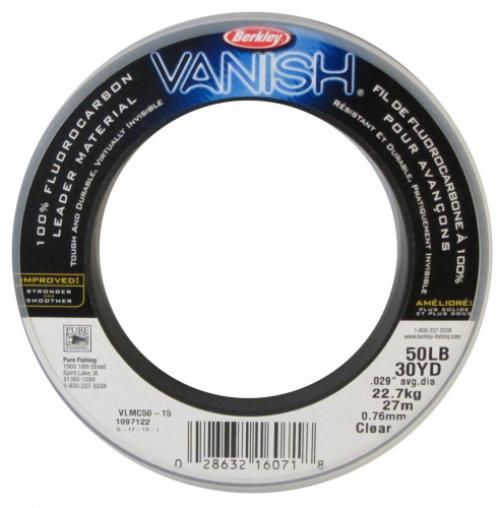 Berkley Vlmc50-15 Vanish Leader Fluoro 50lb 30yd Clear