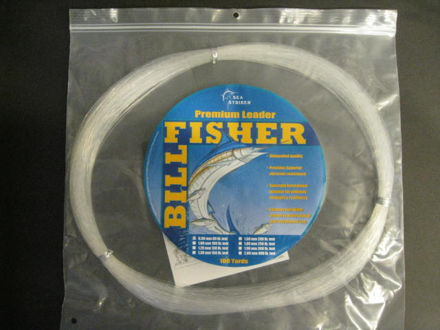 Billfisher 80lb 100yds Clear .90mm Lc100-80 Mono Leader Coil