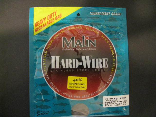 Malin Stainless Steel Leader #7 80 Lb Test Lc7-42 Ss Wire Coffee