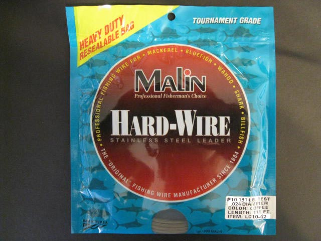 Malin Stainless Steel Leader #10 131 Lb Test Lc10-42 Ss Wire Cof