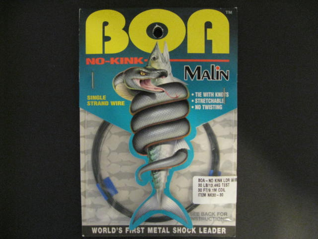 Malin Nk30-30 Boa No-kink Leader Wire 30 Lb. Test [HNR0384-0123 ...